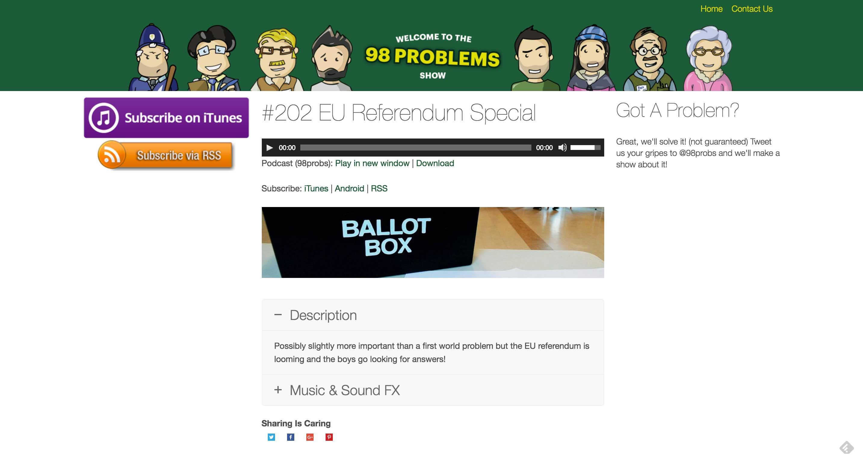 98 Problems EU referendum podcast
